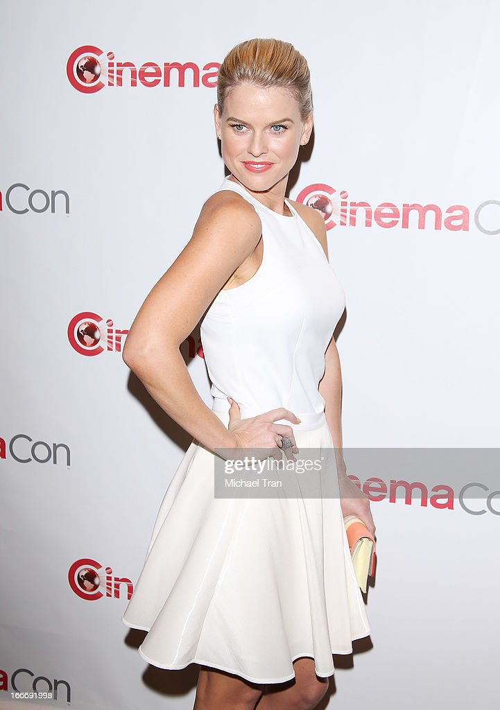 Alice Eve arrives at a Paramount Pictures presentation to promote upcoming films, held at Caesars Palace during CinemaCon, the official convention of the National Association of Theatre Owners on April 15, 2013 in Las Vegas, Nevada.