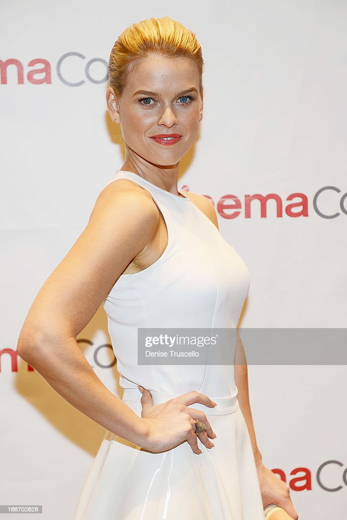 Alice Eve arrives at CinemaCon 2013 Paramount opening night party and presentation at Caesars Palace on April 15, 2013 in Las Vegas, Nevada.