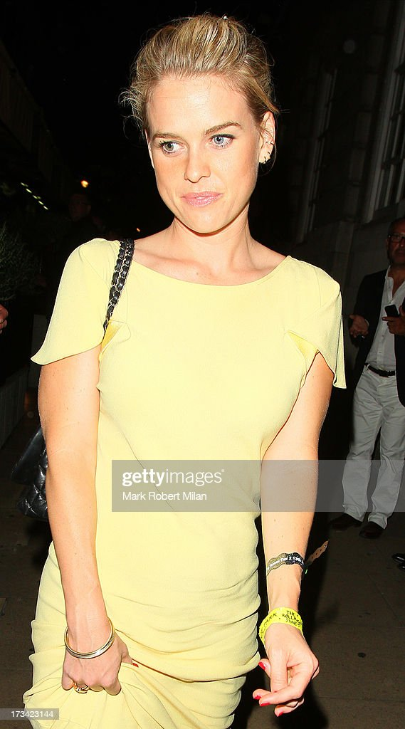 Alice Eve at Loulou's club on July 13, 2013 in London, England.