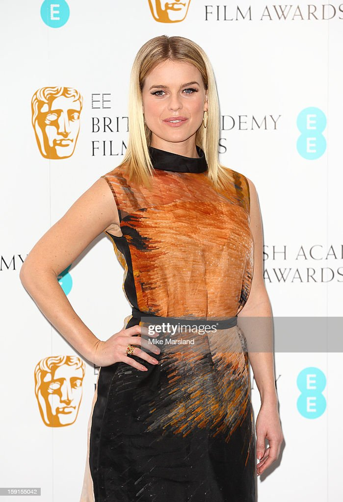 Alice Eve attends as the nominations for the EE British Academy Film Awards are announced on January 9, 2013 in London, England.
