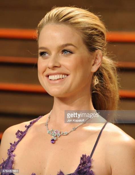Alice Eve attends the 2014 Vanity Fair Oscar Party hosted by Graydon Carter on March 2 2014 in West Hollywood California