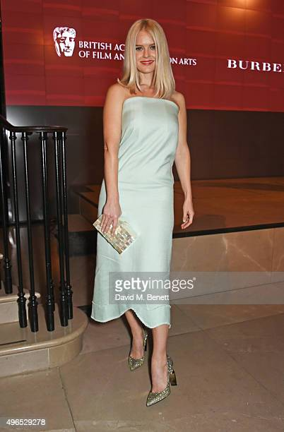 Alice Eve attends the BAFTA Breakthrough Brits reception in partnership with Burberry at 121 Regent Street on November 10 2015 in London England