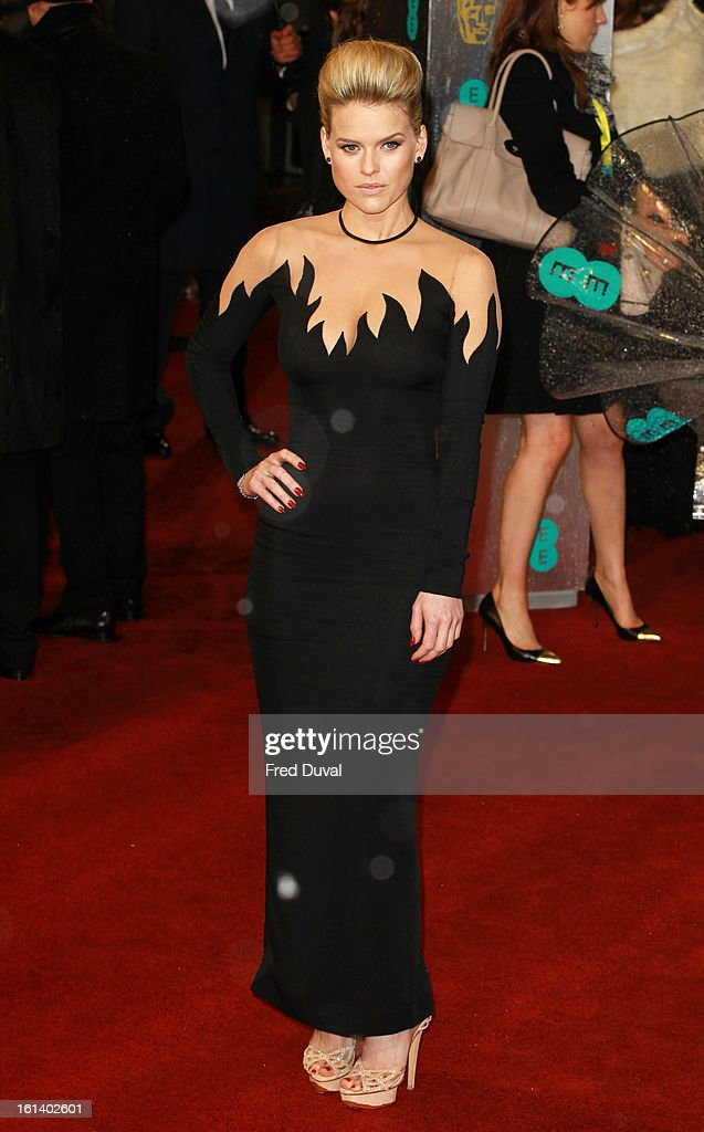 Alice Eve attends the EE British Academy Film Awards at The Royal Opera House on February 10, 2013 in London, England.