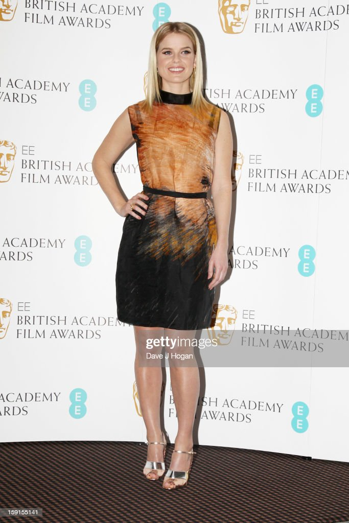 Alice Eve attends The EE British Academy Film Awards nominations announcement at at BAFTA on January 9, 2013 in London, England.