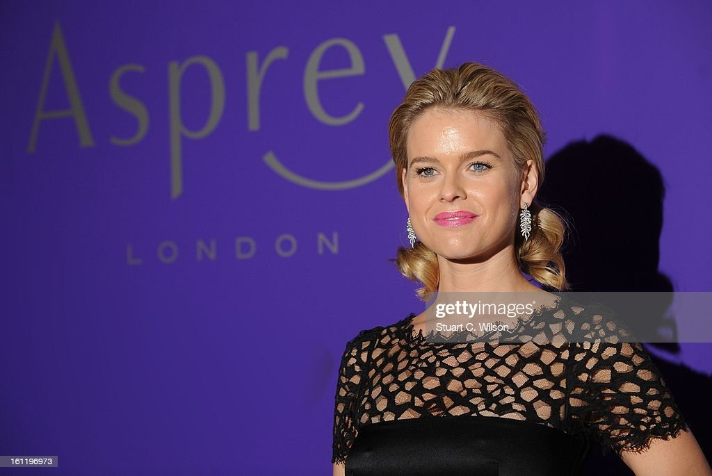 Alice Eve attends the EE British Academy Film Awards nominees party at Asprey London on February 9, 2013 in London, England.