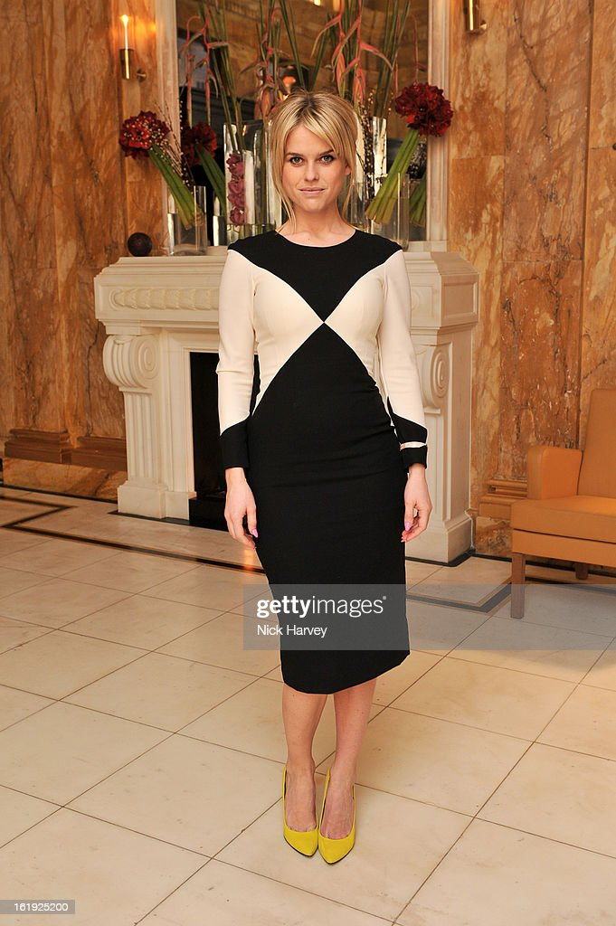Alice Eve attends the L'Wren Scott cocktail party during London Fashion Week Fall/Winter 2013/14 at on February 17, 2013 in London, England.