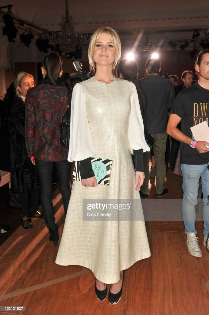 Alice Eve attends the Roksanda Ilincic show during London Fashion Week Fall/Winter 2013/14 at on February 19, 2013 in London, England.