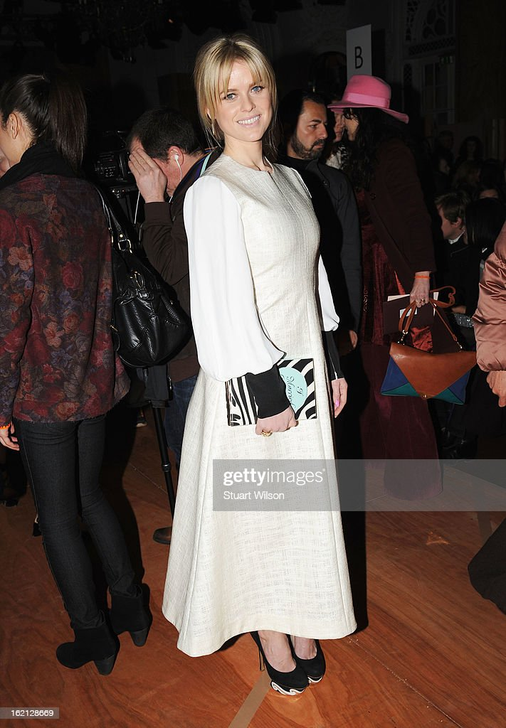 Alice Eve attends the Roksanda Ilincic show during London Fashion Week Fall/Winter 2013/14 at The Savoy on February 19, 2013 in London, England.