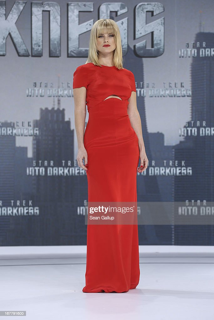 Alice Eve attends the 'Star Trek Into Darkness' Premiere at CineStar on April 29, 2013 in Berlin, Germany.