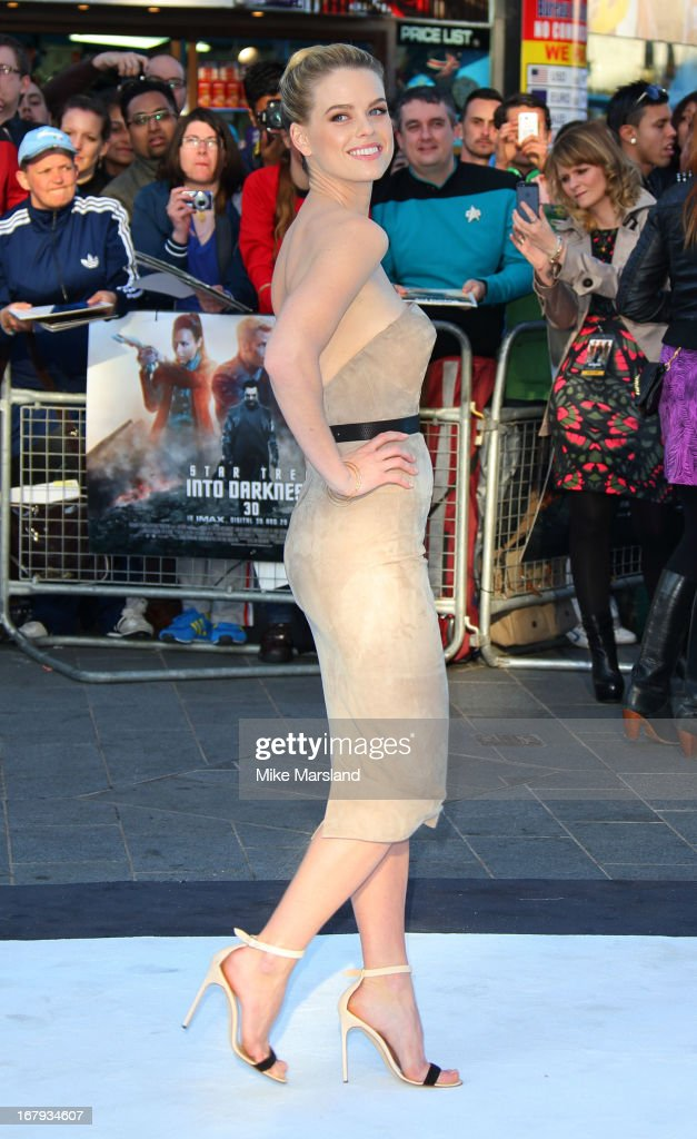 <a gi-track='captionPersonalityLinkClicked' href=/galleries/search?phrase=Alice+Eve+-+Actress&family=editorial&specificpeople=570229 ng-click='$event.stopPropagation()'>Alice Eve</a> attends the UK Premiere of 'Star Trek Into Darkness' at The Empire Cinema on May 2, 2013 in London, England.