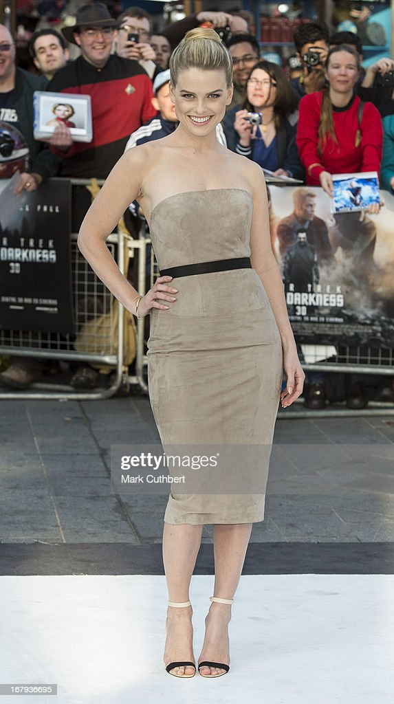 <a gi-track='captionPersonalityLinkClicked' href=/galleries/search?phrase=Alice+Eve&family=editorial&specificpeople=570229 ng-click='$event.stopPropagation()'>Alice Eve</a> attends the UK Premiere of 'Star Trek Into Darkness' at The Empire Cinema on May 2, 2013 in London, England.