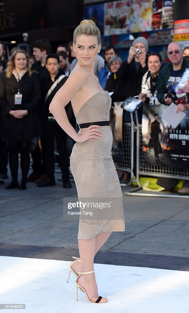 Alice Eve attends the UK Premiere of 'Star Trek Into Darkness' at The Empire Cinema on May 2, 2013 in London, England.