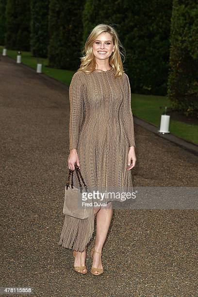 Alice Eve attends the Vogue and Ralph Lauren Wimbledon party at The Orangery on June 22 2015 in London England