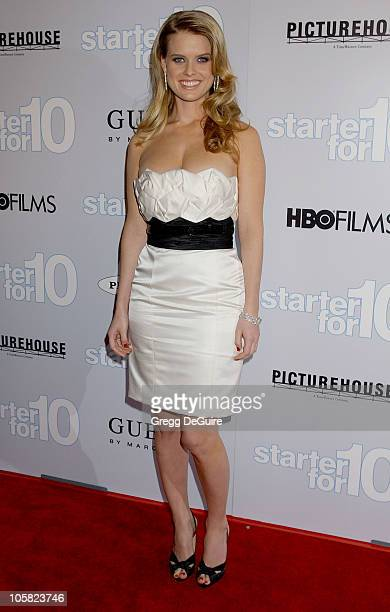 Alice Eve during 'Starter For 10' Los Angeles Premiere Arrivals at ArcLight Hollywood in Hollywood California United States