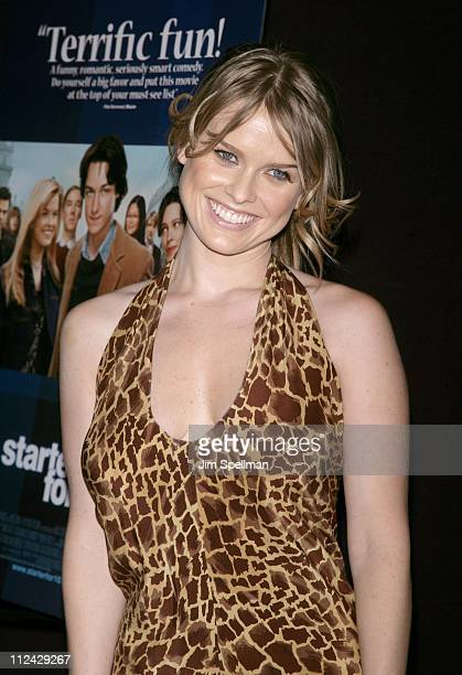 Alice Eve during 'Starter For Ten' New York City Premiere Arrivals at Tribeca Grand Screening Room in New York City New York United States