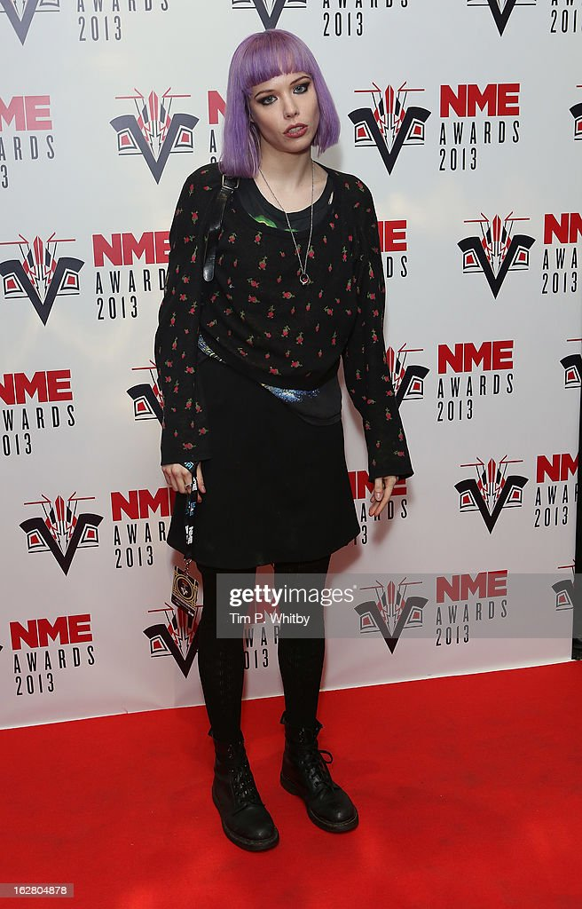 Alice Glass of Crystal Castles attends the NME Awards 2013 at the Troxy on February 27, 2013 in London, England.