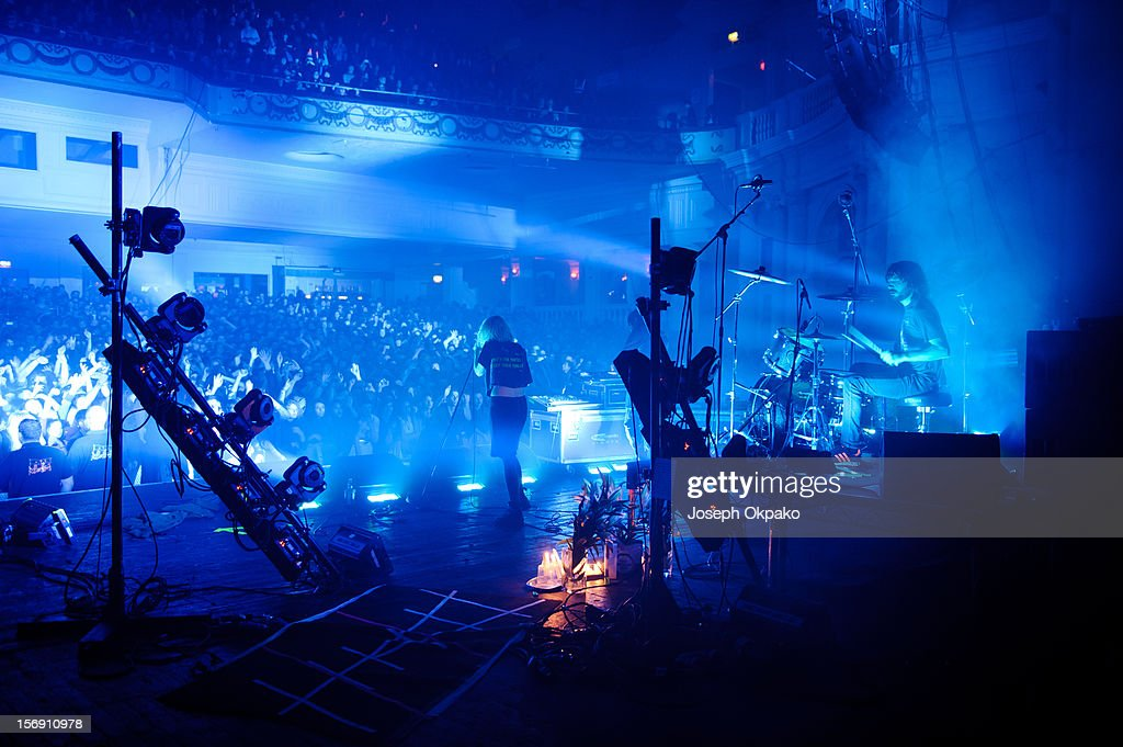 Alice Glass of Crystal Castles perform at Brixton Academy on November 24, 2012 in London, England.