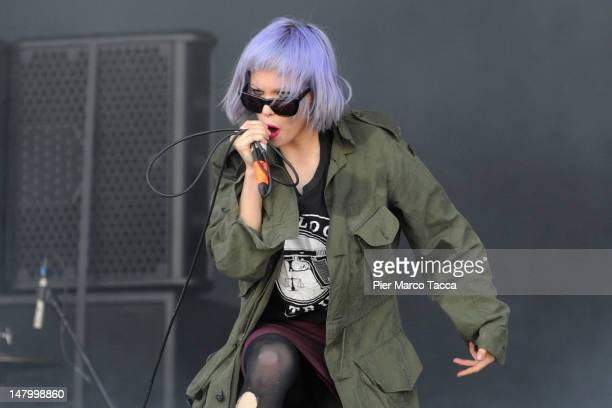 Alice Glass of Crystal Castles performs at the 2012 Heineken Jammin Festival on July 7 2012 in Milan Italy
