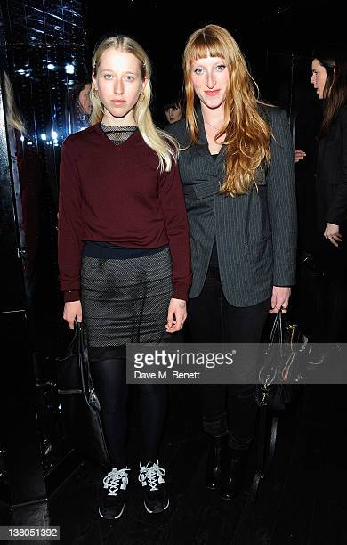 Alice Goddard and Molly Goddard attends the launch of Marie Claire's new fashion magazine 'Runway' at Le Baron at the Embassy on February 1 2012 in...