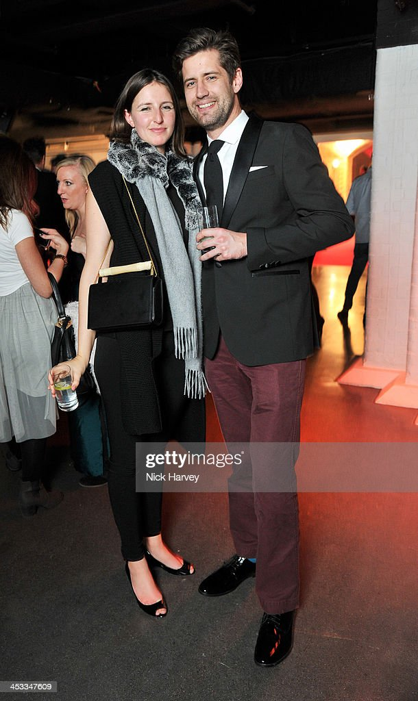 Alice Horlick (L) and Nathan Engelbrecht attend the Fashion Fringe 10 Year Anniversary Party at the London Film Museum on December 3, 2013 in London, England.