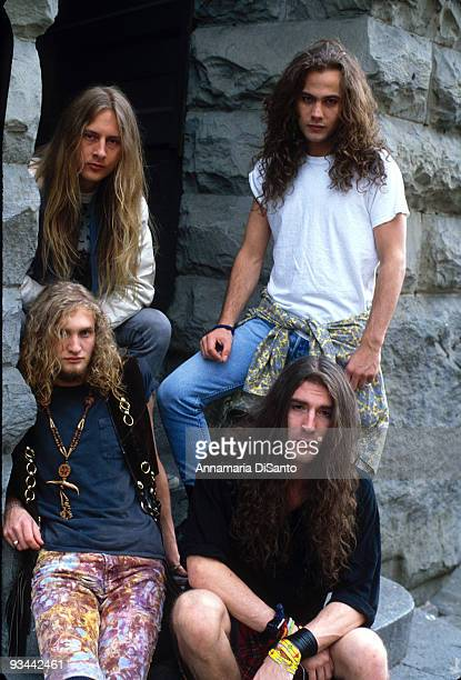 Alice in Chains' official first record company photo session in 1990 Layne Staley sitting right was found dead in his Seattle home on April 19 2002
