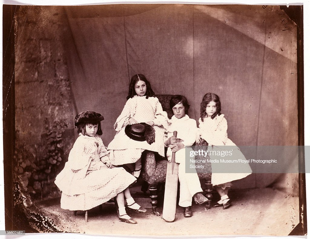 Alice, Ina, Harry and Edith Liddell, probably May or June 1860. By, Dodgson, Charles Lutwidge, aka Lewis Carroll (1932-1898).