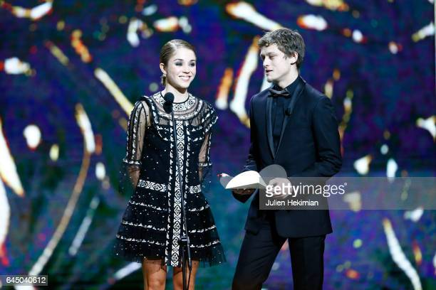 Alice Isaaz and Rod Paradot are seen on stage during the Cesar Film Awards Ceremony at Salle Pleyel on February 24 2017 in Paris France