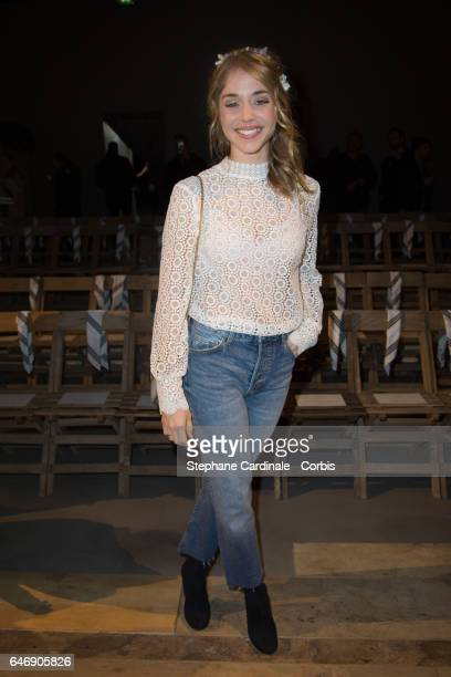 Alice Isaaz attends the HM Studio show as part of the Paris Fashion Week on March 1 2017 in Paris France