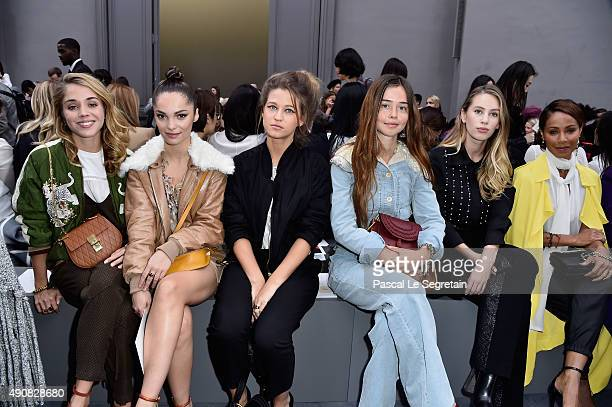 Alice Isaaz Lola Le Lann Selah Sue Flo Morissey Dylan Penn and Jada Pinkett Smith attend the Chloe show as part of the Paris Fashion Week Womenswear...