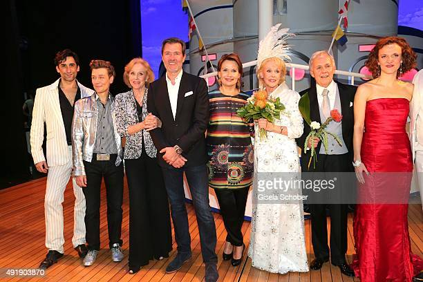 Alice Kessler John Juergens son of Udo Juergens and his sister Jenny Juergens daughter of Udo Juergens and Ellen Kessler during the Munich premiere...