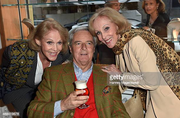 Alice Kessler Prinz Peter zu Hohenlohe and Ellen Kessler attend the 'Dorotheum Munich Hosts Cocktail Reception' on September 15 2015 in Munich Germany