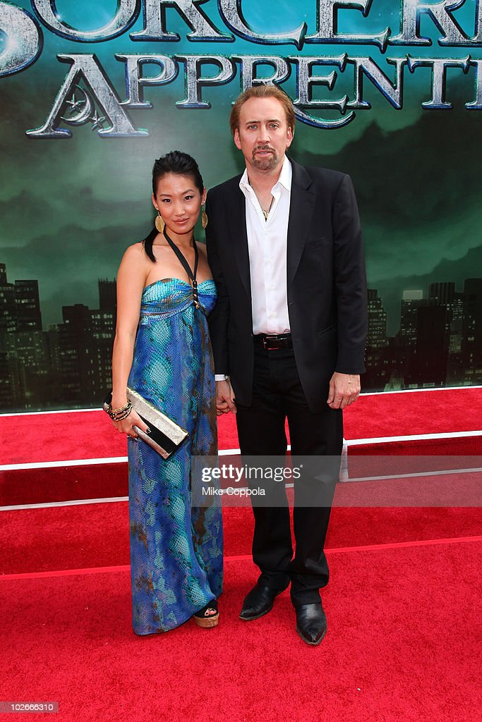 <a gi-track='captionPersonalityLinkClicked' href=/galleries/search?phrase=Alice+Kim&family=editorial&specificpeople=212731 ng-click='$event.stopPropagation()'>Alice Kim</a> and actor <a gi-track='captionPersonalityLinkClicked' href=/galleries/search?phrase=Nicolas+Cage&family=editorial&specificpeople=196531 ng-click='$event.stopPropagation()'>Nicolas Cage</a> attend the premiere of 'The Sorcerer's Apprentice' at the New Amsterdam Theatre on July 6, 2010 in New York City.