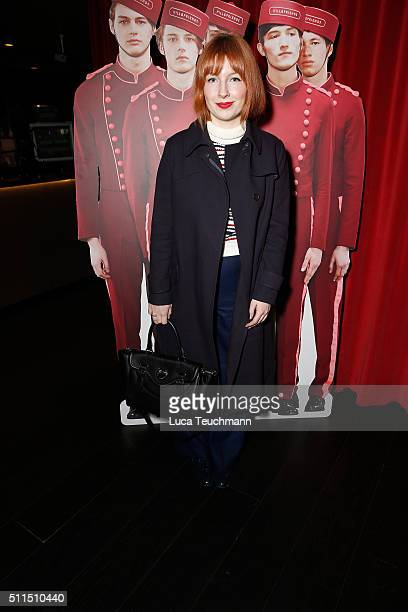 Alice Levine attends the Hill Friends Presentation show during London Fashion Week Autumn/Winter 2016/17 at on February 21 2016 in London England