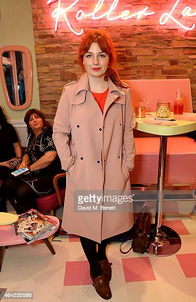 Alice Levine attends the launch of 'Curl's Best Friend' a popup curl and cocktail parlour on Greek Street London by Benefit Cosmetics on February 26...