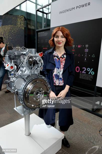 Alice Levine poses at the Technology with Heart Jaguar Land Rover's Tech Fest at Central St Martins on September 7 2017 in London England