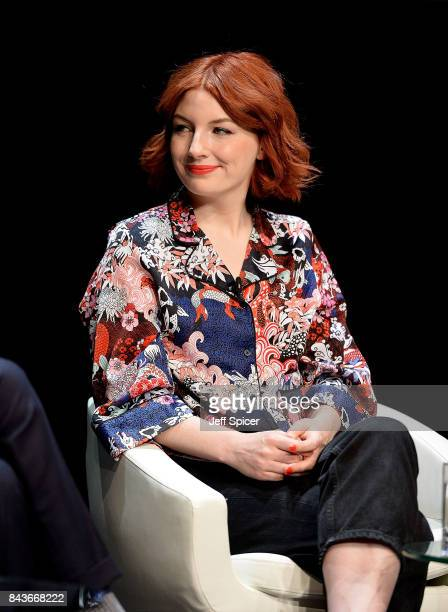 Alice Levine speaks at the Technology with Heart Jaguar Land Rover's Tech Fest at Central St Martins on September 7 2017 in London England