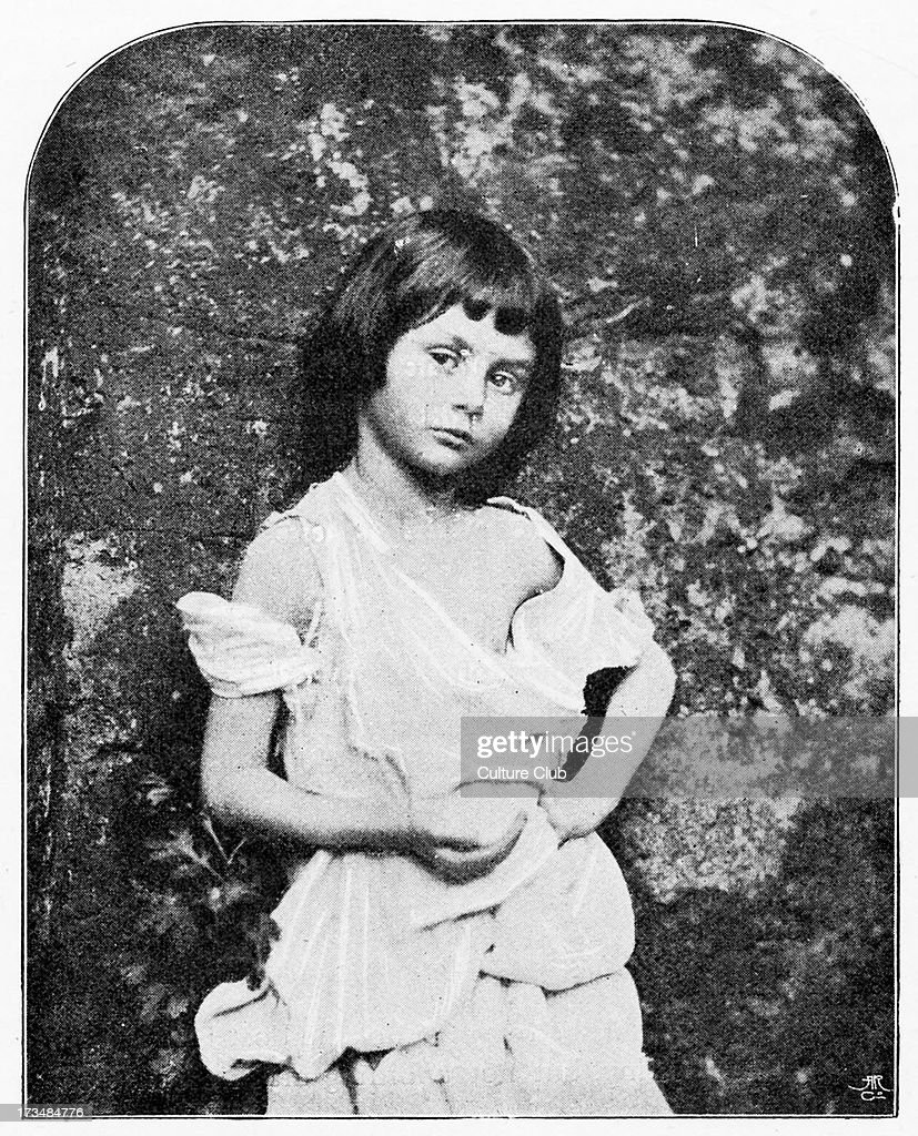 <a gi-track='captionPersonalityLinkClicked' href=/galleries/search?phrase=Alice+Liddell&family=editorial&specificpeople=977449 ng-click='$event.stopPropagation()'>Alice Liddell</a> as a beggar child - after photograph taken by Lewis Carroll, 1858. Inspiration for Carroll 's novel Alice in Wonderland.