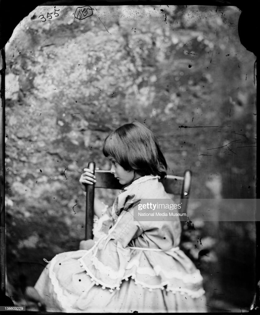 <a gi-track='captionPersonalityLinkClicked' href=/galleries/search?phrase=Alice+Liddell&family=editorial&specificpeople=977449 ng-click='$event.stopPropagation()'>Alice Liddell</a> in profile, facing right, Summer 1858, by Charles Lutwidge