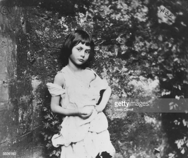 Alice Liddell the inspiration for Lewis Carroll's fictional character Alice in 'Alice in Wonderland' She is posing as 'The BeggarMaid'