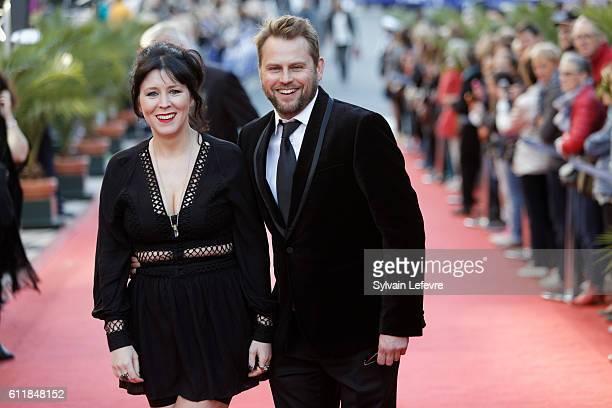 Alice Lowe and Steve Blackburn attend closing ceremony of 27th Dinard British Film Festival on October 1 2016 in Dinard France