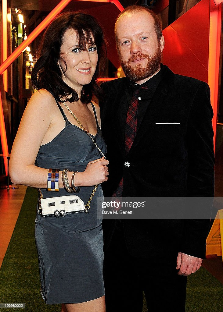 Alice Lowe (L) and Steve Oram attend the UK Premiere of 'Sightseers' in association with Stella Artois at the London Transport Museum on November 26, 2012 in London, England.