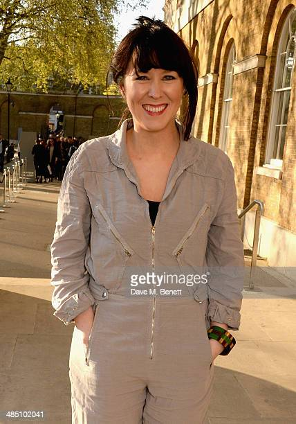 Alice Lowe attends a private view of The Motion Photography Prize exhibition at the Saatchi Gallery on April 16 2014 in London England