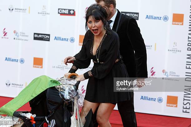 Alice Lowe attends closing ceremony of 27th Dinard British Film Festival on October 1 2016 in Dinard France