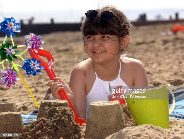 Alice Maddocks from Hanging Heaton West Yorkshire who suffers from aplastic anaemia enjoys the beach on holiday in Hornsea East Yorkshire The Prime...