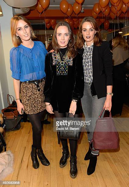 Alice Manners Violet Manners and Eliza Manners attends Ed Burstell Autobiography Launch at Liberty on October 14 2015 in London England