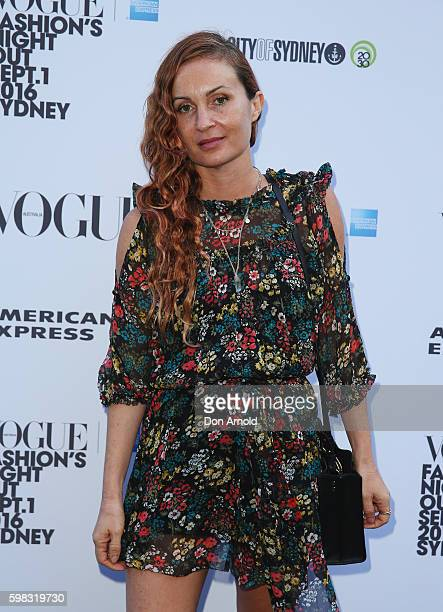 Alice McCall poses during Vogue American Express Fashion's Night Out on September 1 2016 in Sydney Australia