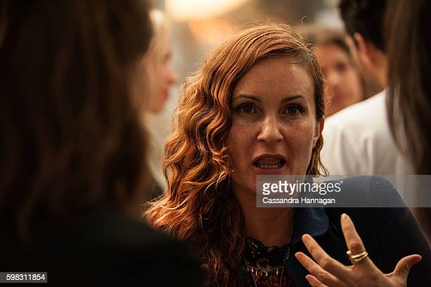 Alice McCall socialises during Vogue American Express Fashion's Night Out on September 1 2016 in Sydney Australia