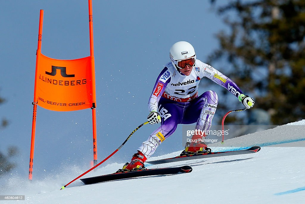 <a gi-track='captionPersonalityLinkClicked' href=/galleries/search?phrase=Alice+McKennis&family=editorial&specificpeople=6531582 ng-click='$event.stopPropagation()'>Alice McKennis</a> of the United States practices during Ladies' Downhill training on the Raptor racecourse on Day 4 of the 2015 FIS Alpine World Ski Championships on February 5, 2015 in Beaver Creek, Colorado.