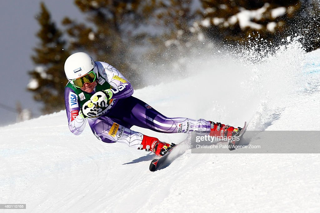 <a gi-track='captionPersonalityLinkClicked' href=/galleries/search?phrase=Alice+McKennis&family=editorial&specificpeople=6531582 ng-click='$event.stopPropagation()'>Alice McKennis</a> of the USA competes during the Audi FIS Alpine Ski World Cup Women's Super-G on December 07, 2014 in Lake Louise, Canada.