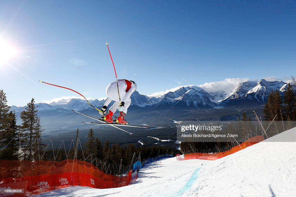 <a gi-track='captionPersonalityLinkClicked' href=/galleries/search?phrase=Alice+McKennis&family=editorial&specificpeople=6531582 ng-click='$event.stopPropagation()'>Alice McKennis</a> of the USA competes during the Audi FIS Alpine Ski World Cup Womenâs Downhill Training on December 02, 2015 in Lake Louise, Canada.